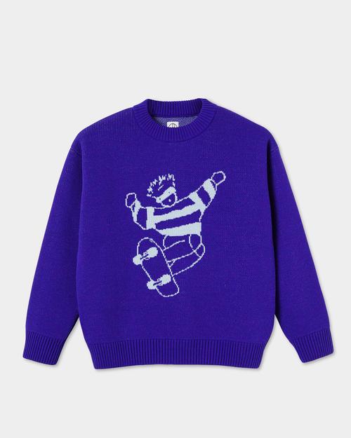 Polar Polar Skate Dude Knit Sweater Purple