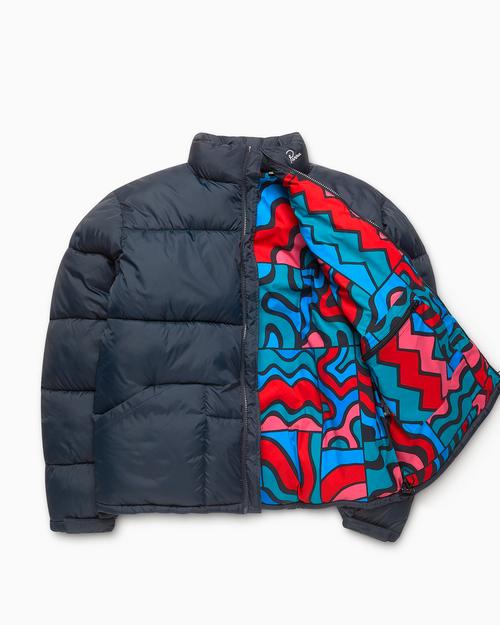 Parra Parra Gem Stone Puffer Jacket Navy Blue