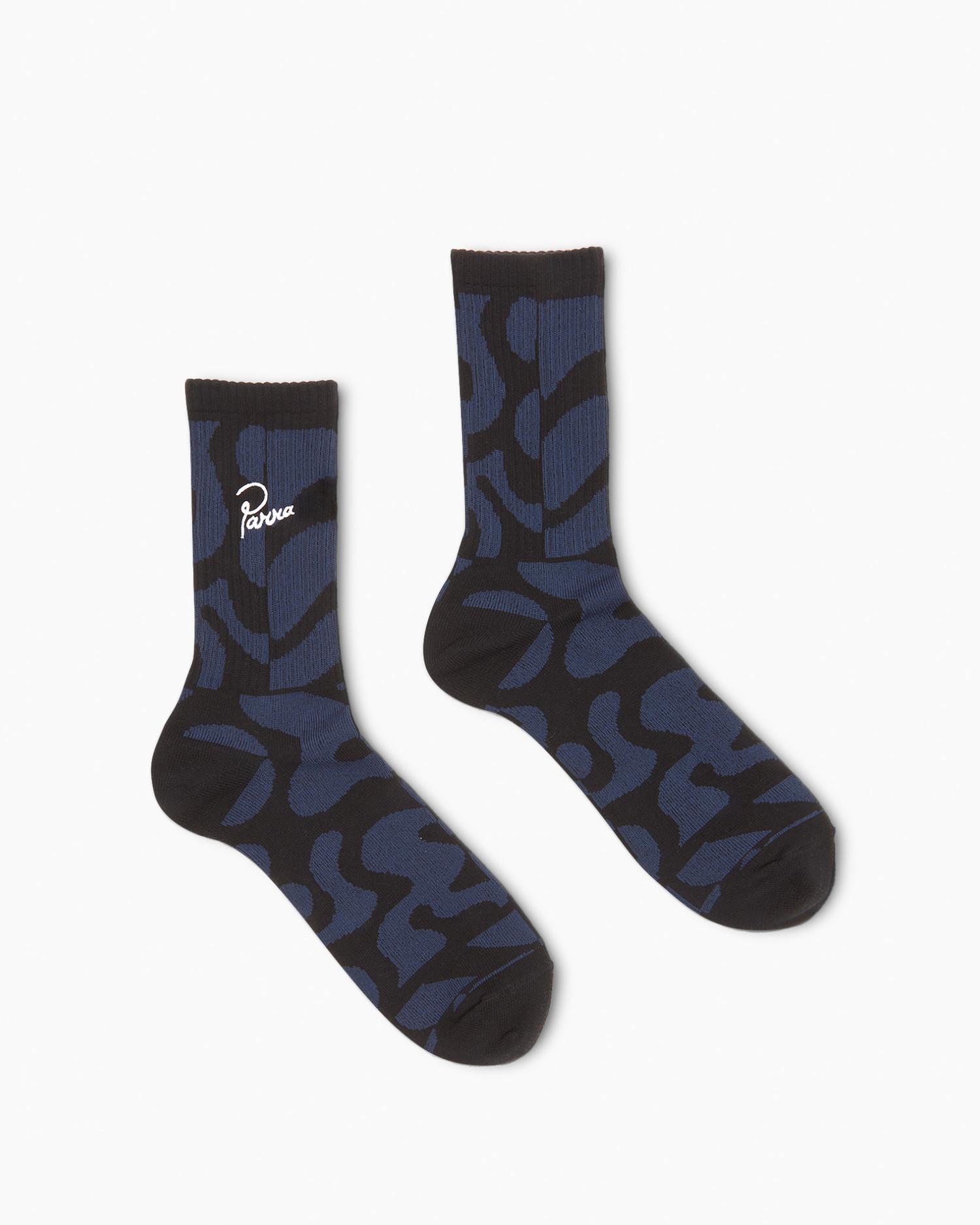 Parra Duo Gem Stone Crew Socks Blue
