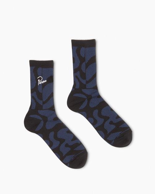 Parra Parra Duo Gem Stone Crew Socks Blue