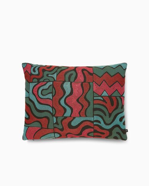 Parra Parra Gem Stone Pillow 60 x 45cm Green/Red