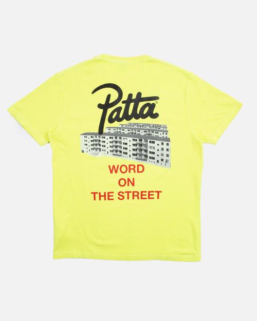 Patta Patta Word On The Street Tee Fluoro Yellow