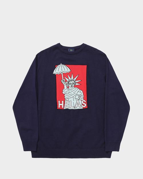 Helas Helas Eifel Knit Sweater Navy