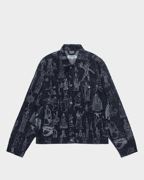 Fucking Awesome Fucking Awesome - Reflective Denim Jacket Black /3M