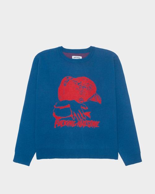 Fucking Awesome Fucking Awesome Embrace Entarsia Sweater Blue/Red