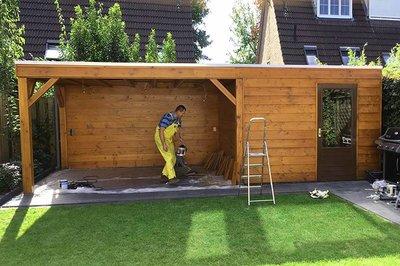Top Douglas hout (tuinhuis en overkapping) impregneren en beitsen VX65