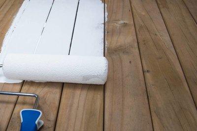 Gebruikte Houten Vloer : Houten vloer verven verfadvies kleuren stappenplan