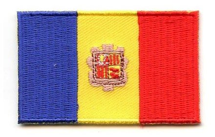 Flagge Patch Andorra