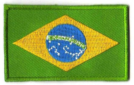 Flagge Patch Brasilien