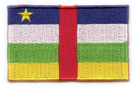 flag patch Central African Republic