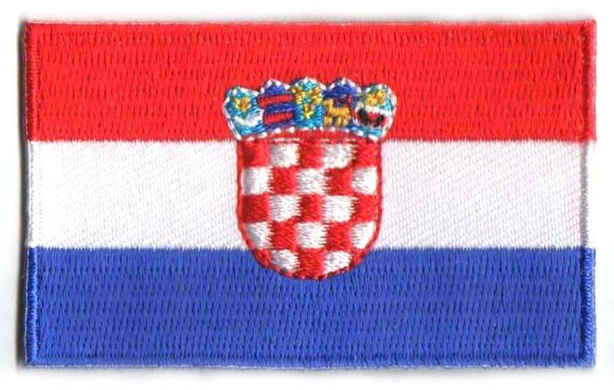 Aufnäher Kroatien Split Dalmatien Patch Fahne Flagge