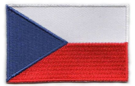 Flagge Patch Tschechische Republik