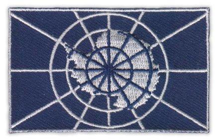 Flagge Patch Antarktis Vertrag