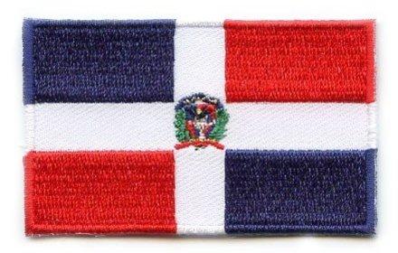 vlag patch Dominicaanse Republiek