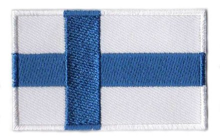 Flaggenpatch Finnland