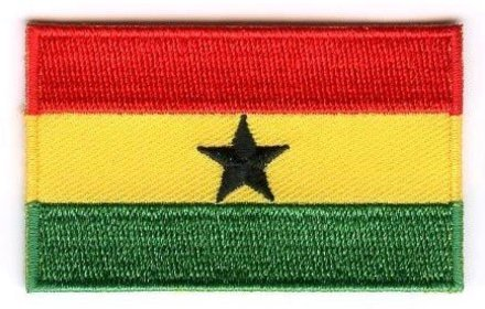 Flaggen-Patch Ghana
