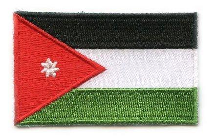 Flagge Patch Jordanien