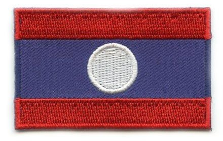 Flagge Patch Laos