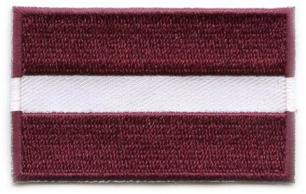 Flagge Patch Lettland