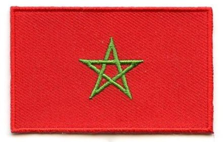 flag patches Morocco