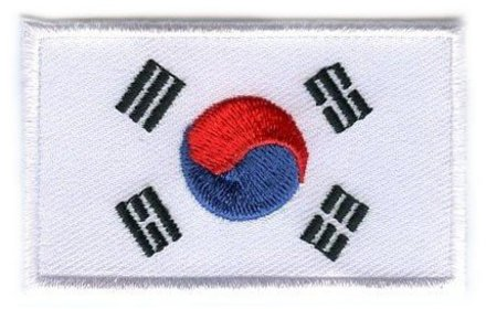 Flaggenpatch Südkorea