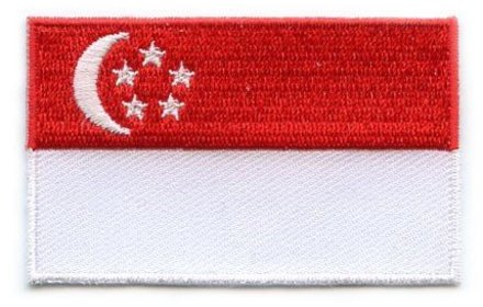Flag Patch Singapur