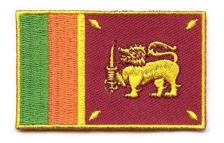 Flaggenpatch Sri Lanka