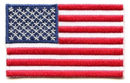vlag patch Verenigde Staten van Amerika