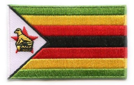 Flagge Patch Simbabwe