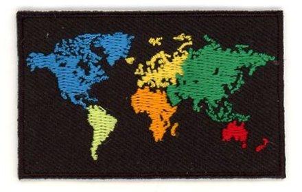 Flaggen-Patch-Welt