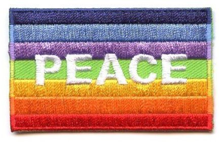 flag patch Peace