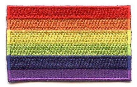 vlag patch Regenboog