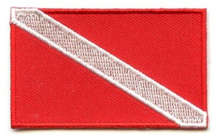 flag patch Scuba