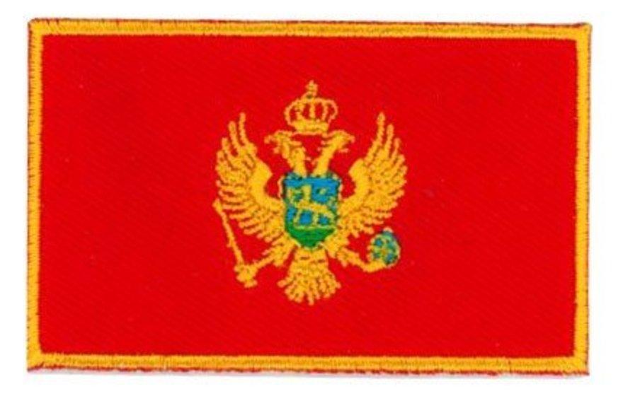 Montenegro Flag-Patch- 3 x 2