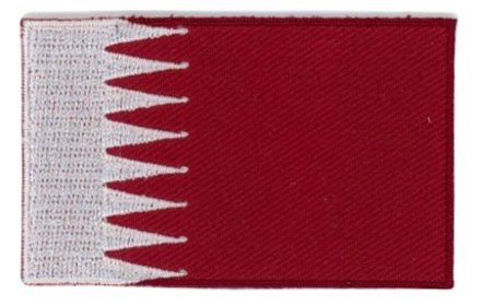 Flaggenpatch Katar