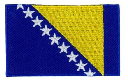 Flaggenpatch Bosnien und Herzegowina