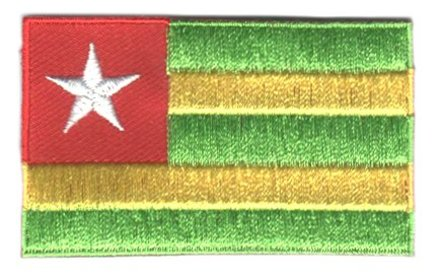 Flaggenpatch Togo