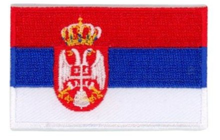 vlag patch Servië