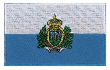 Flaggenpatch San Marino