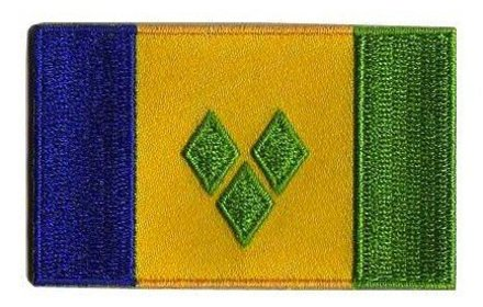 vlag patch Saint Vincent en de Grenadines