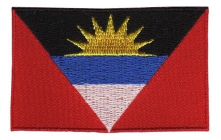 vlag patch Antigua en Barbuda