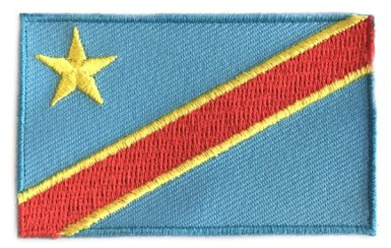 Fahnenflagge Demokratische Republik Kongo