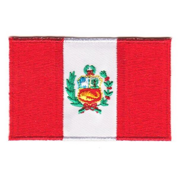 Peru flag patch