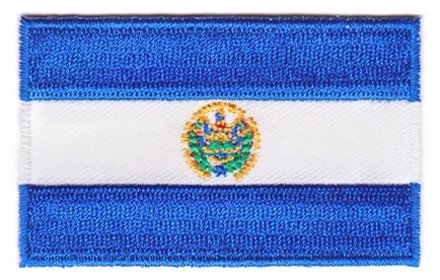 Flagge Patch El Salvador