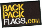 Flag patches, landen vlaggen, backpack logo