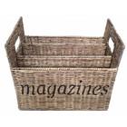 Sweet Living Rieten Tijdschrifthouder - Magazines