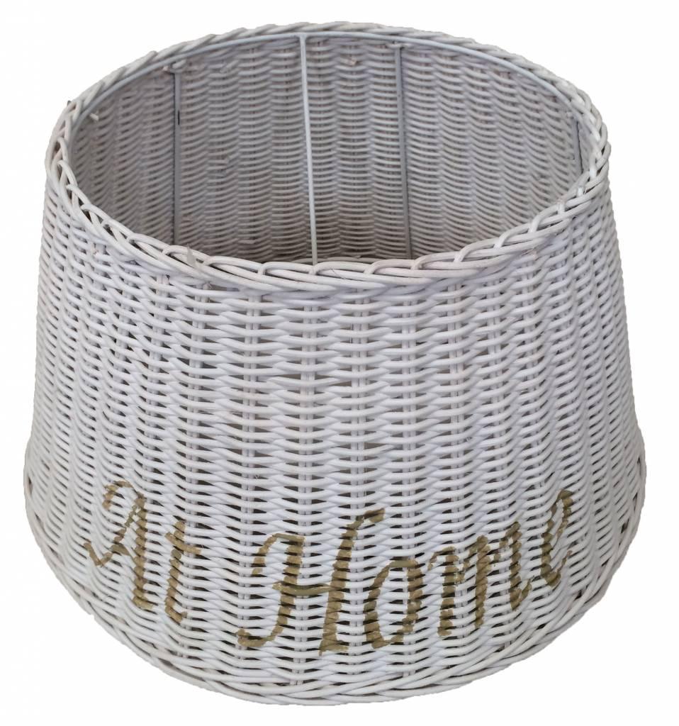 Populair Witte Rieten Lampenkap M - At Home - Sweet Living Shop EG43