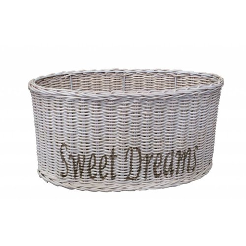 Sweet Living Witte Ovalen Rieten Lampenkap M - Sweet Dreams