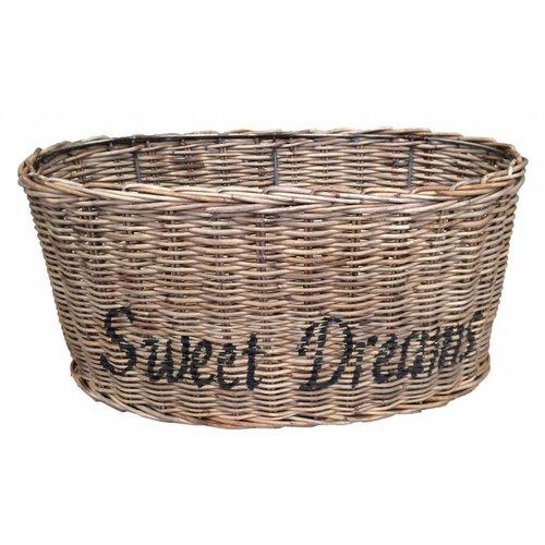 Sweet Living Ovalen Rieten Lampenkap - Sweet Dreams zwart
