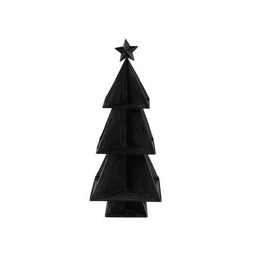 Countryfield Kerstboom Clyde Zwart - 26x26xH66 cm